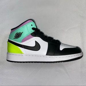 Nike Air Jordan 1 Mid GS Pastel NEW 5.5Y 7W